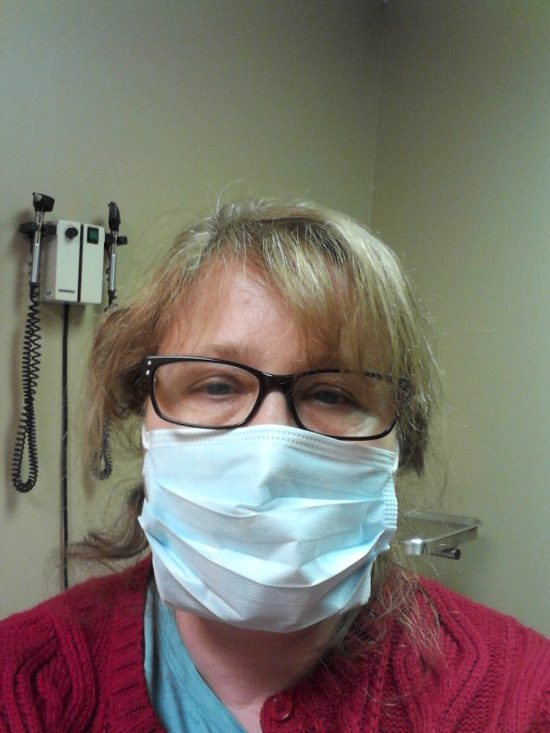 Of course it looks stupid, but it kept my germs away from people. (And fogged up my glasses)