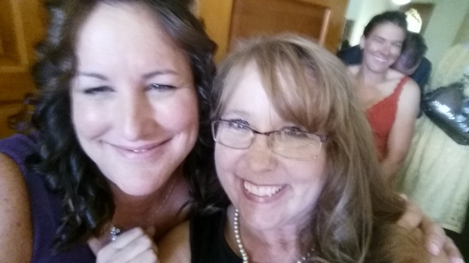 Nicole and I at her wedding.  Yes, I selfied in the receiving line.