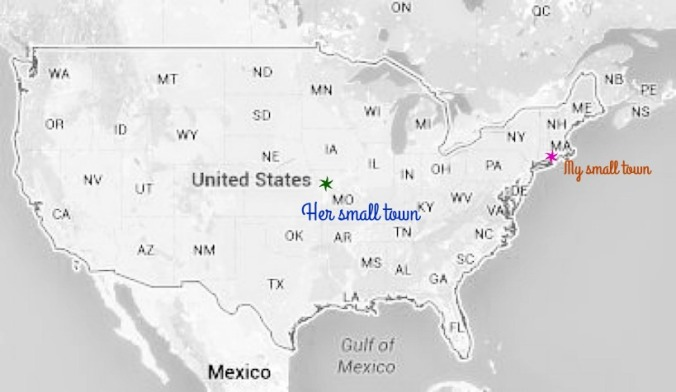 map of us dotted